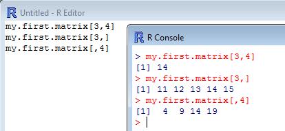 matrix coordinates